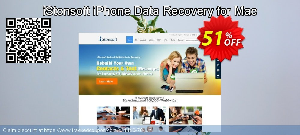 Get 50% OFF iStonsoft iPhone Data Recovery for Mac offering sales