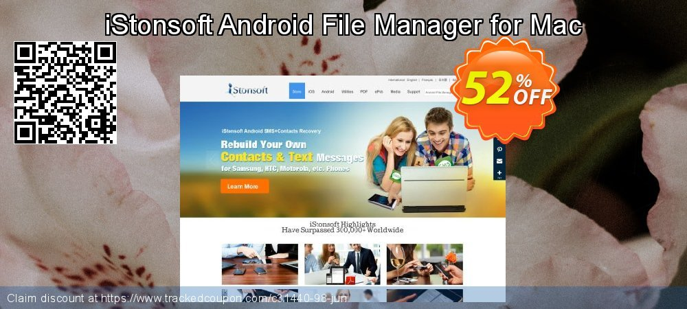 iStonsoft Android File Manager for Mac coupon on July 4th discounts