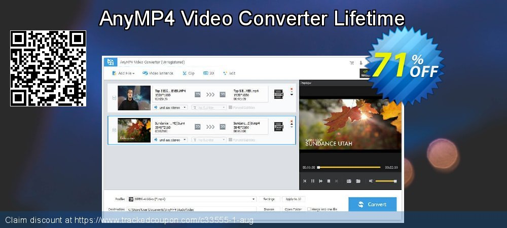 Get 40% OFF AnyMP4 Video Converter Lifetime discounts
