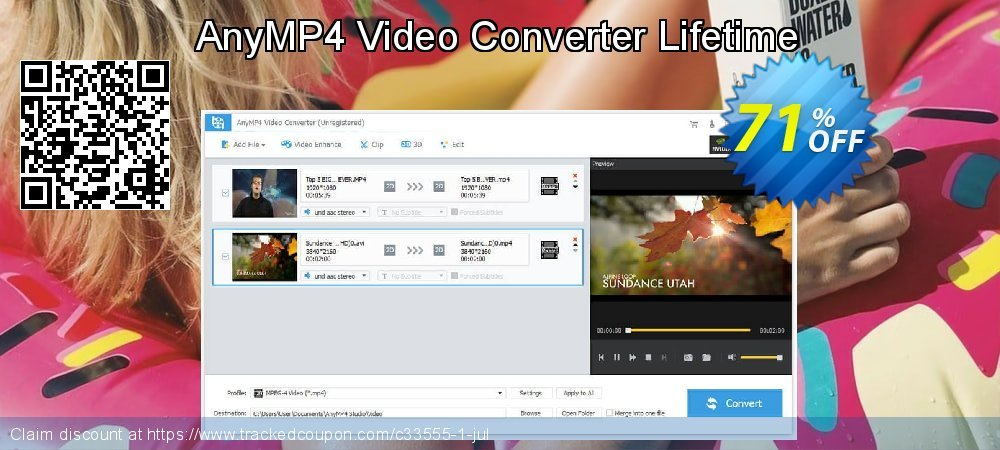 Get 50% OFF AnyMP4 Video Converter Lifetime offering sales