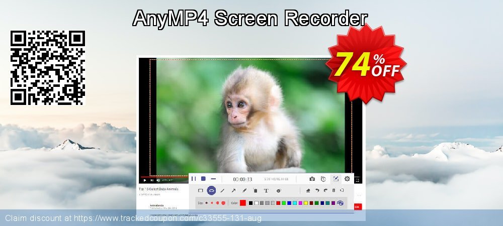 AnyMP4 Screen Recorder coupon on Natl. Doctors' Day sales