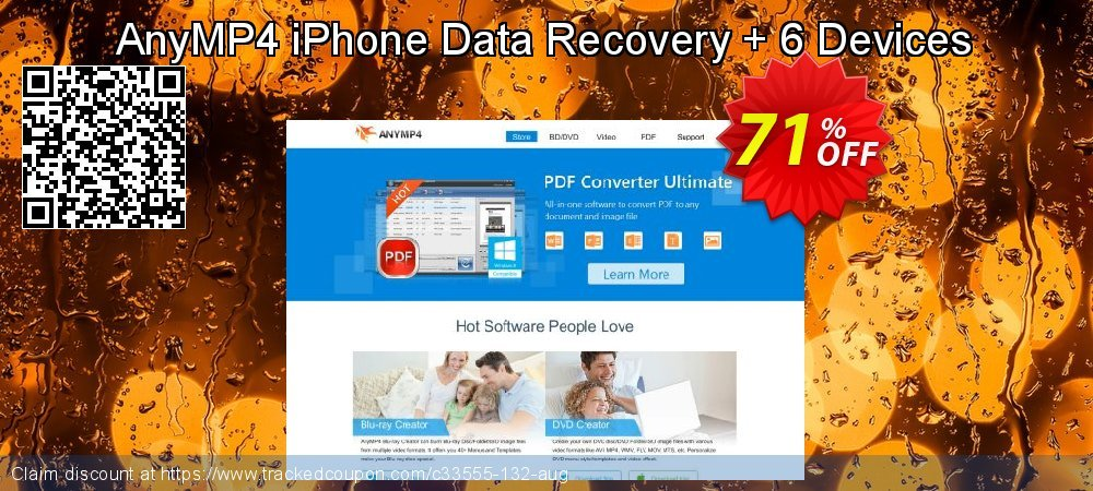Claim 51% OFF AnyMP4 iPhone Data Recovery + 6 Devices Coupon discount August, 2020
