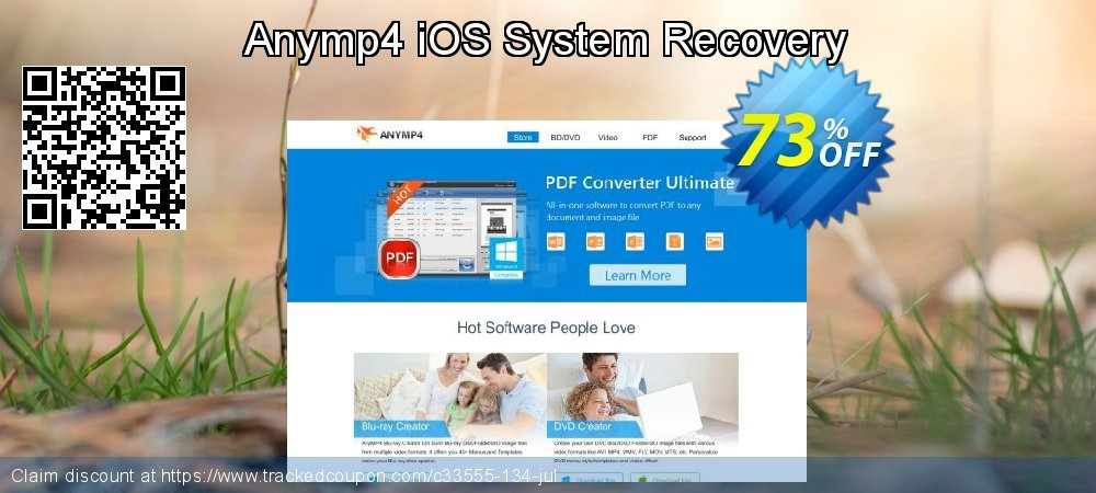 Anymp4 iOS System Recovery coupon on Valentine's Day offer
