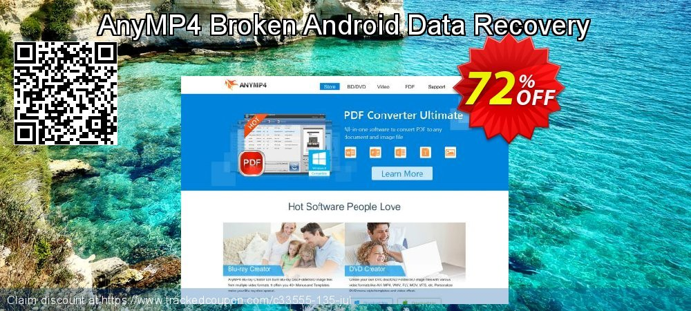 Claim 52% OFF AnyMP4 Broken Android Data Recovery Coupon discount November, 2019