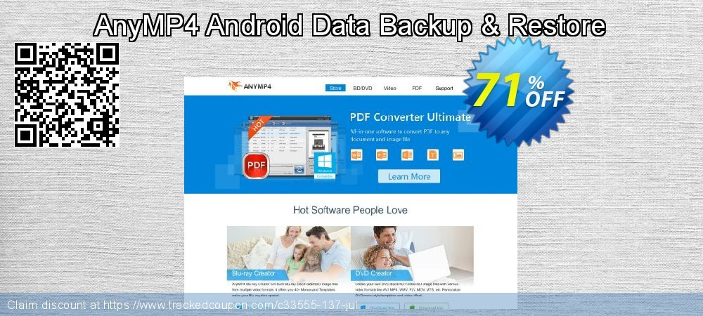 AnyMP4 Android Data Backup & Restore coupon on Natl. Doctors' Day super sale