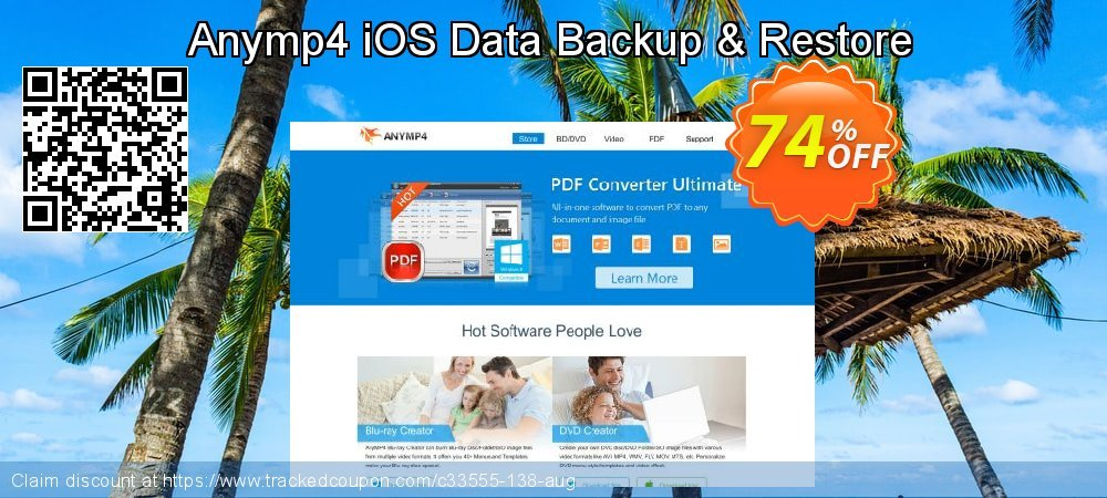 Anymp4 iOS Data Backup & Restore coupon on Valentines Day super sale