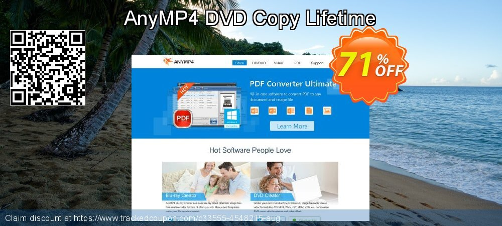 AnyMP4 DVD Copy Lifetime coupon on Natl. Doctors' Day super sale