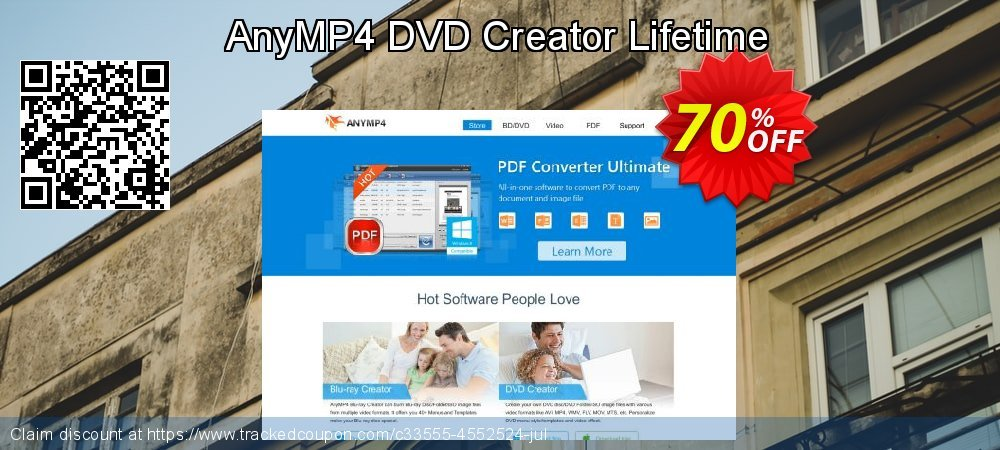 AnyMP4 DVD Creator Lifetime coupon on Int'l. Women's Day offering discount