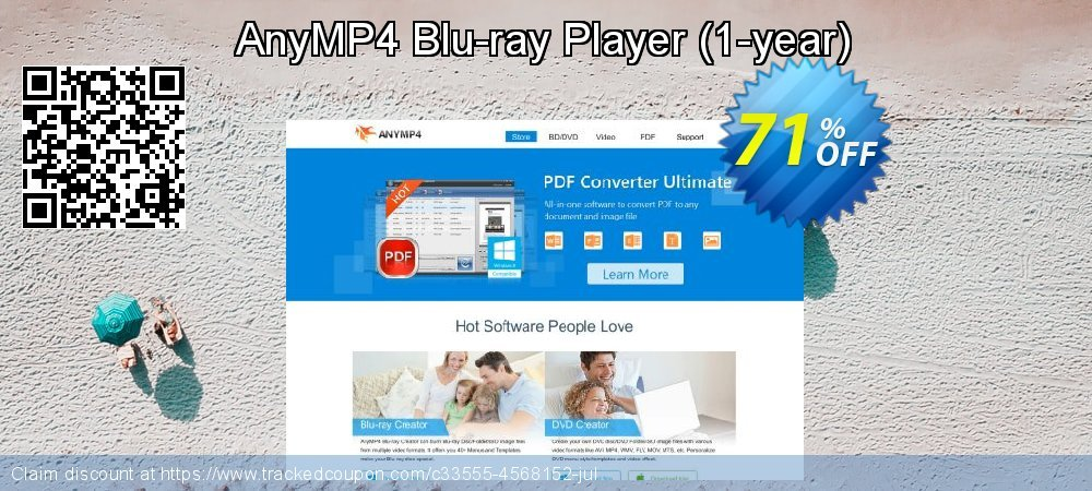 AnyMP4 Blu-ray Player - 1-year  coupon on Super bowl discounts