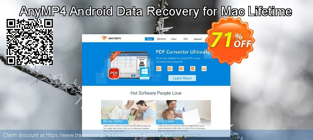 Claim 40% OFF AnyMP4 Android Data Recovery for Mac Lifetime Coupon discount June, 2019