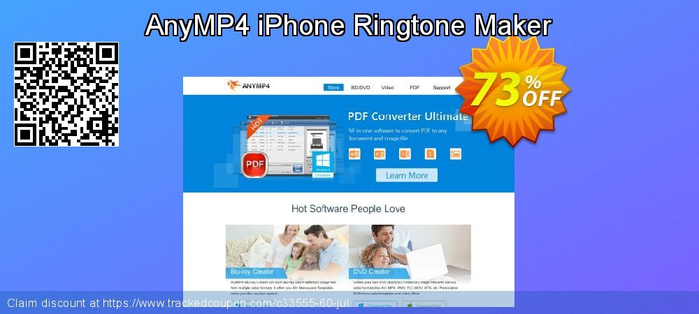 AnyMP4 iPhone Ringtone Maker coupon on Valentine Week sales