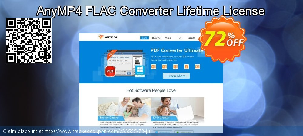 AnyMP4 FLAC Converter Lifetime License coupon on Valentines Day offering discount