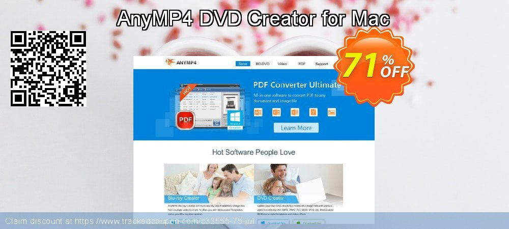AnyMP4 DVD Creator for Mac coupon on Int'l. Women's Day discounts