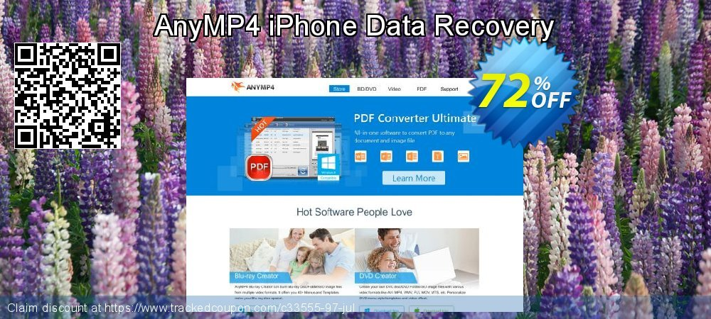 Claim 40% OFF AnyMP4 iPhone Data Recovery Coupon discount June, 2019