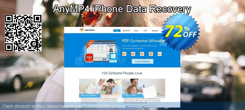 Claim 52% OFF AnyMP4 iPhone Data Recovery Coupon discount November, 2019