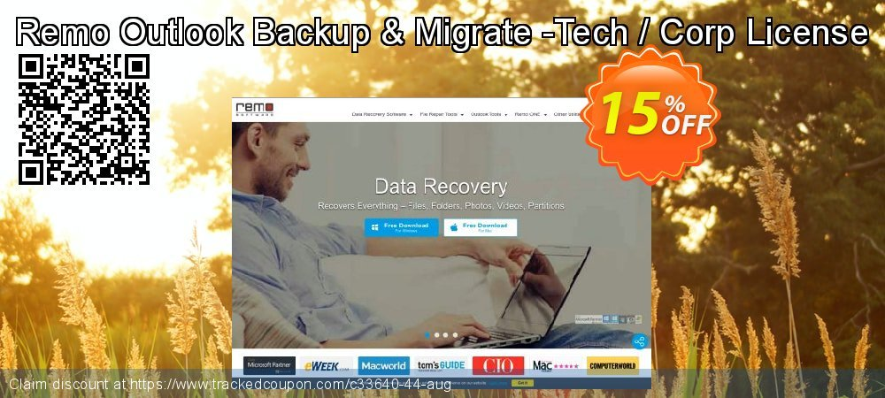 Remo Outlook Backup & Migrate -Tech / Corp License coupon on Halloween offering sales