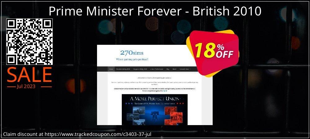 Get 10% OFF Prime Minister Forever - British 2010 promotions