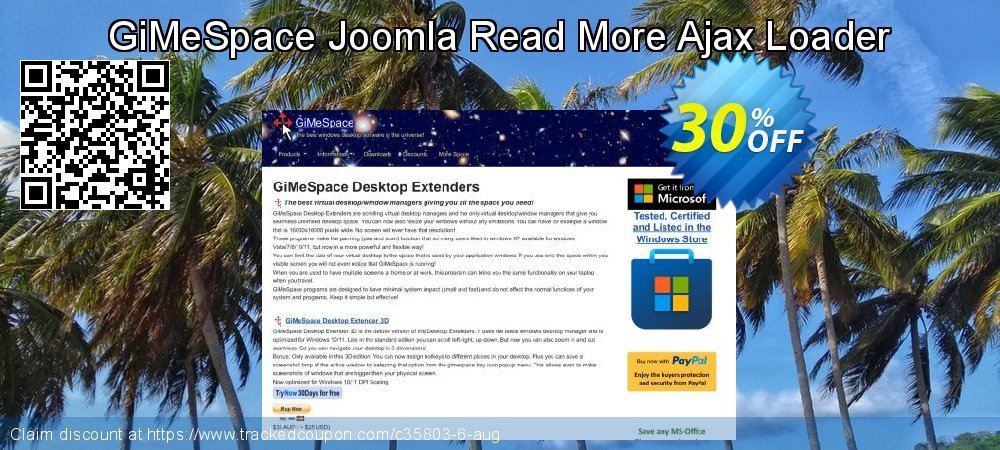 GiMeSpace Joomla Read More Ajax Loader coupon on Thanksgiving discounts