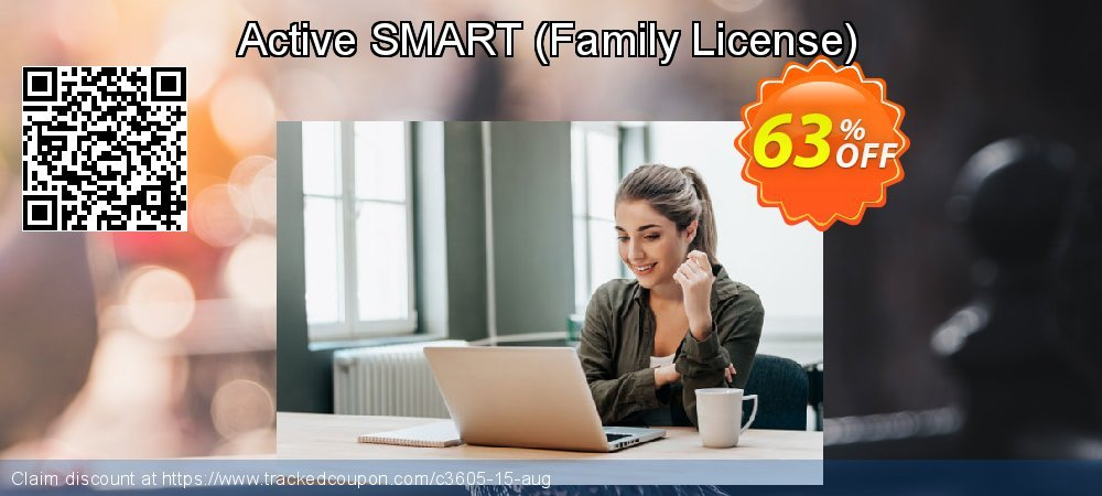 Get 60% OFF Active SMART (Family License) offering sales