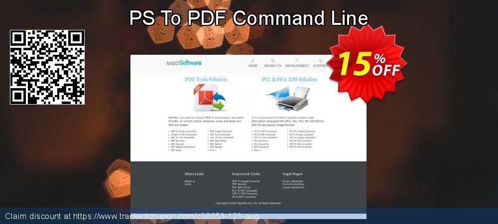 Get 15% OFF PS To PDF Command Line offer