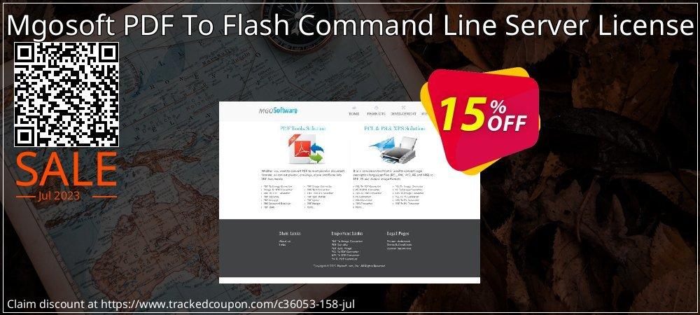 Get 15% OFF Mgosoft PDF To Flash Command Line Server License discounts