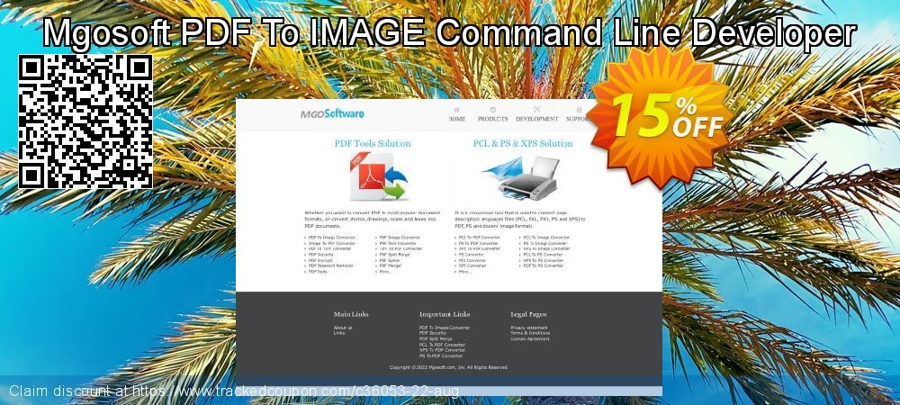 Mgosoft PDF To IMAGE Command Line Developer coupon on Back to School deals sales