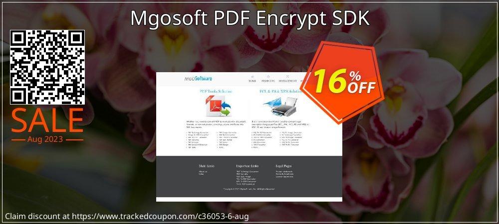 Get 15% OFF Mgosoft PDF Encrypt SDK sales