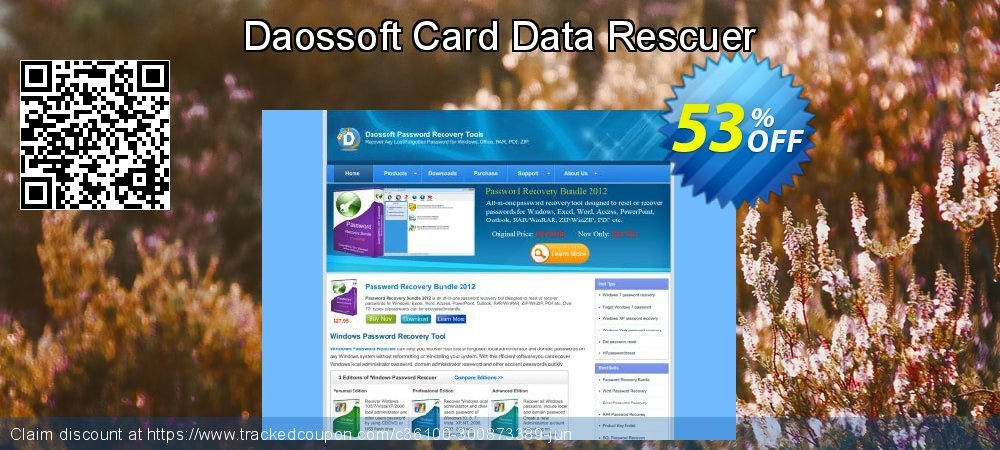 Daossoft Card Data Rescuer coupon on Easter Sunday offer