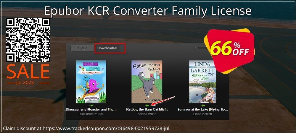 Epubor KCR Converter Family License coupon on Back to School promo discounts