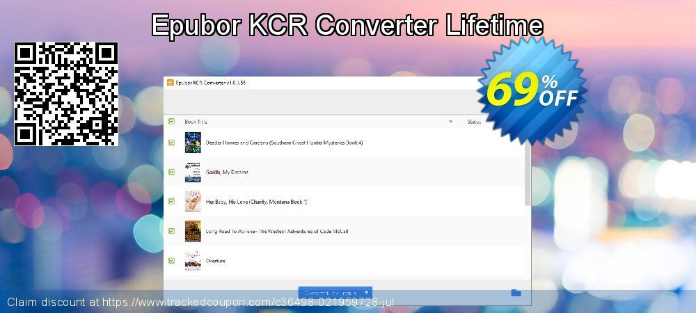Epubor KCR Converter Lifetime coupon on University Student offer discounts