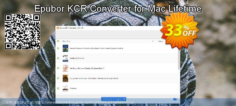 Epubor KCR Converter for Mac Lifetime coupon on Teacher deals offering discount