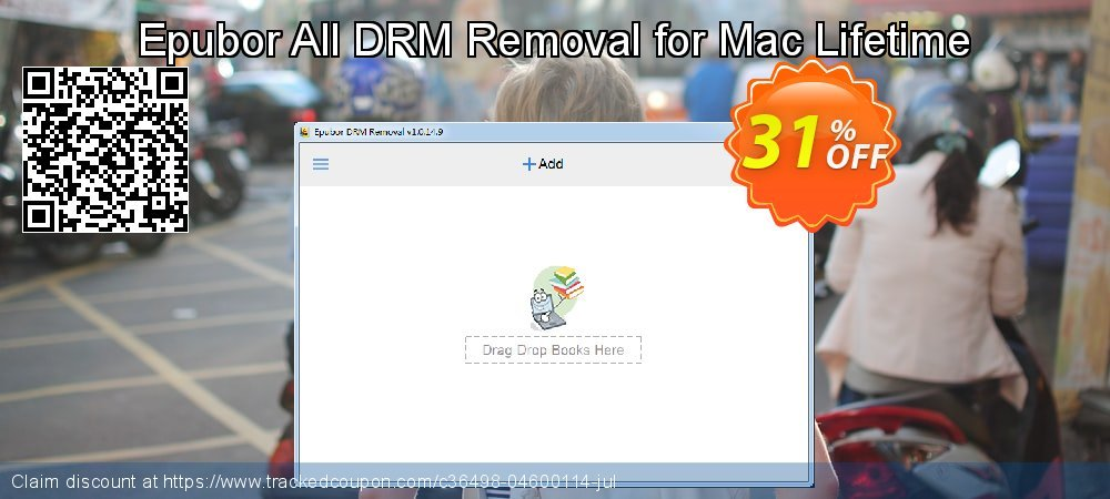 Epubor All DRM Removal for Mac Lifetime coupon on Back to School season discounts