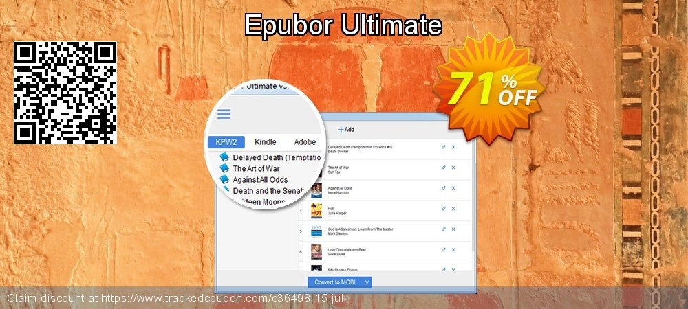 Epubor Ultimate coupon on May Day deals