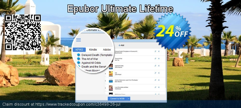 Epubor Ultimate Lifetime coupon on Natl. Doctors' Day discount