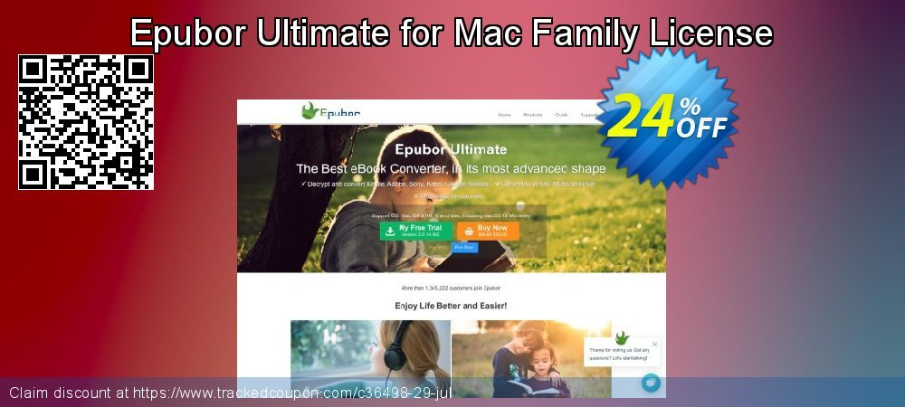 Epubor Ultimate for Mac Family License coupon on Back to School shopping offer