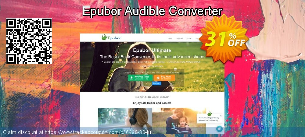 Epubor Audible Converter coupon on Back to School offer discount