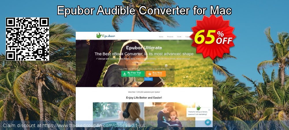 Epubor Audible Converter for Mac coupon on Back to School coupons offering discount