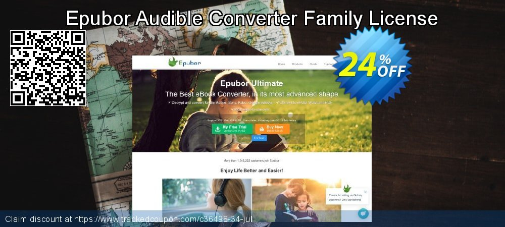 Epubor Audible Converter Family License coupon on Student deals discounts