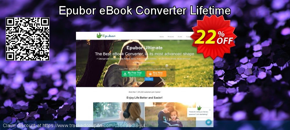 Epubor eBook Converter Lifetime coupon on Int. Workers' Day discounts