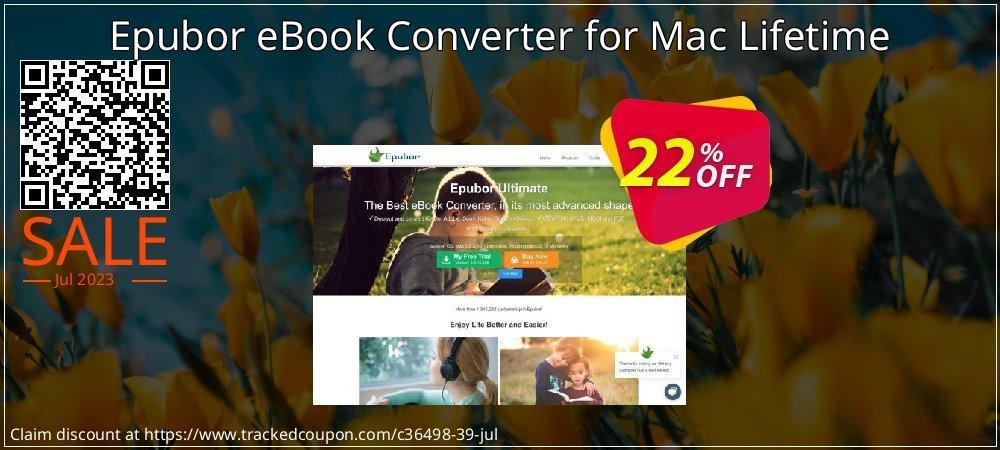 Epubor eBook Converter for Mac Lifetime coupon on Black Friday super sale