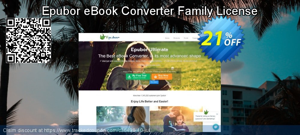 Epubor eBook Converter Family License coupon on Int. Workers' Day super sale