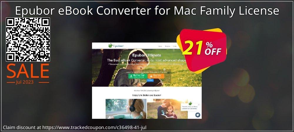 Epubor eBook Converter for Mac Family License coupon on Halloween discounts