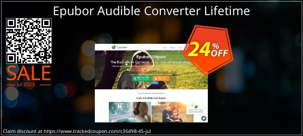 Epubor Audible Converter Lifetime coupon on Back to School deals sales