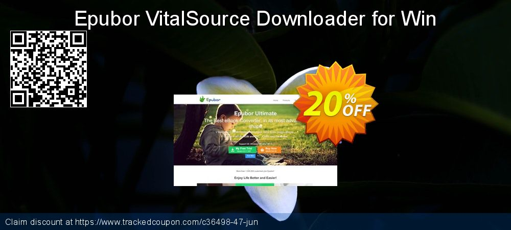 Get 20% OFF Epubor VitalSource Downloader for Win promo