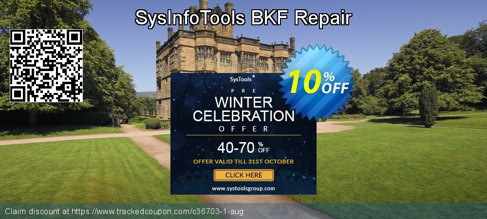SysInfoTools BKF Repair coupon on Student deals sales