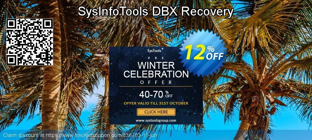 Get 10% OFF SysInfoTools DBX Recovery offering sales