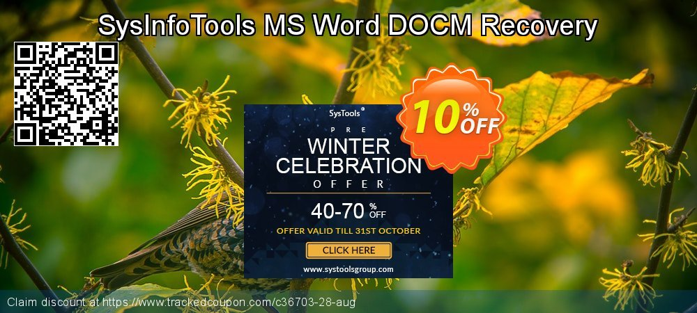 Get 10% OFF SysInfoTools MS Word DOCM Recovery offering sales