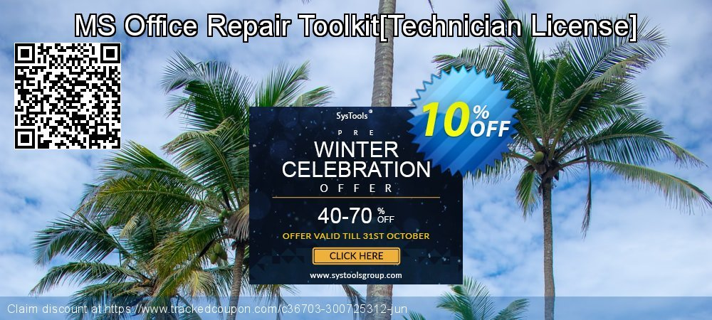 MS Office Repair Toolkit[Technician License] coupon on Halloween offering sales