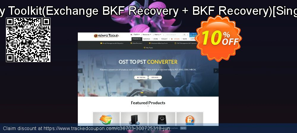 Backup Recovery Toolkit - Exchange BKF Recovery + BKF Recovery [Single User License] coupon on April Fool's Day deals