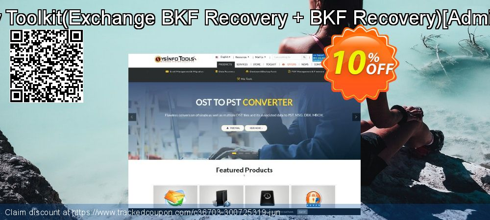 Backup Recovery Toolkit - Exchange BKF Recovery + BKF Recovery [Administrator License] coupon on Christmas offering sales